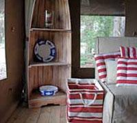 Tent boat shelf