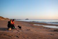 Sun rise beach walks